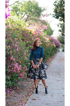 dark green H&M skirt