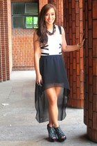 black sheer Stylebreak skirt - black limited edition Zara shoes