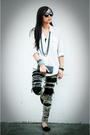 White-tango-top-black-random-brand-accessories-black-zara-accessories-blac