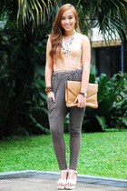gray harem lovevintage pants - nude corset lovevintage top
