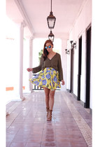 yellow asos skirt