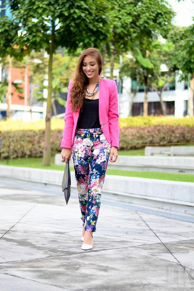 hot pink Ever New blazer