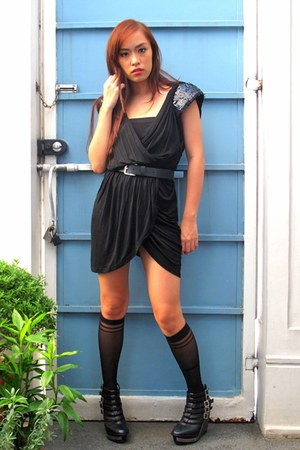 black Soiree from GTW at SM department store dress - black Zara belt - black ran