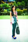 White-topman-shirt-black-mango-jeans-blue-michael-antonio-shoes-brown-purs