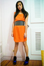 Orange-zara-dress-black-glitterati-belt-blue-topshop-shoes-black-random-br
