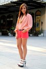 White-heels-bought-online-shoes-pink-forever-21-shorts-pink-zara-top-pink-