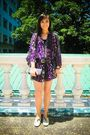 Purple-tango-dress-black-random-brand-shorts-beige-ichigo-shoes-black-zara