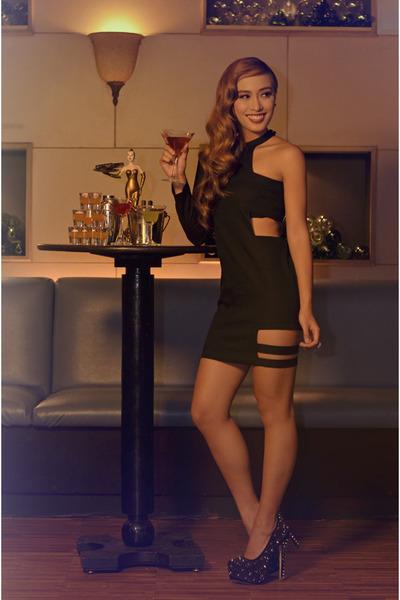black new look heels