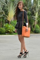 black heels CMG shoes