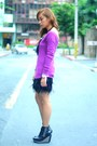 Black-heels-soule-phenomenon-shoes-black-sm-skirt-purple-zara-top