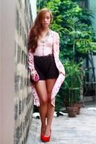 light pink corset Topshop top