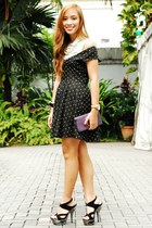 black heels CMG shoes - black Forever 21 dress
