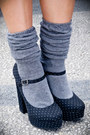Gray-forever-21-dress-gray-forever-21-skirt-gray-forever-21-socks-black-fo