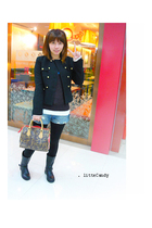 H&M jacket - H&M sweater - Forever 21 top - Jeans shorts - boots