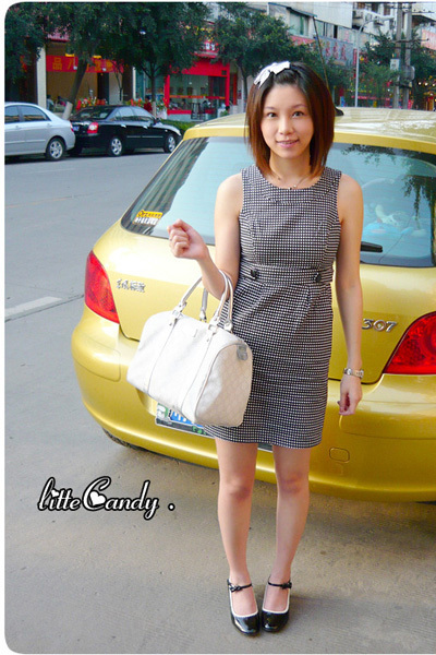 Forever21 dress - Gucci purse - shoes
