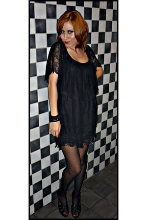 black Mango dress - black Pepe Jeans shoes