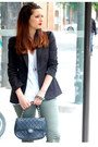 Dark-khaki-h-m-leggings-black-zara-blazer-black-chanel-bag-off-white-h-m-t