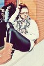 Gray-zara-shirt-purple-h-m-scarf-black-zara-leggings-brown-ugg-boots