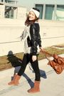 Brown-uggs-boots-black-zara-leggings-black-zara-jacket-silver-zara-scarf-