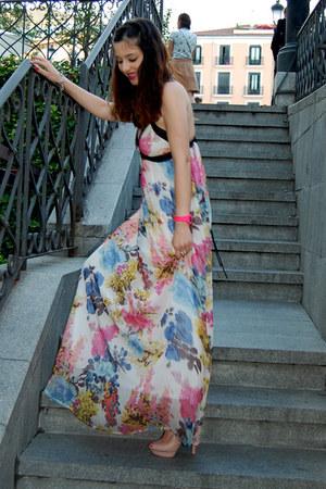 pink GINA TRICOT dress - light pink H&M heels