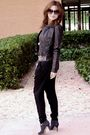 Black-zara-pants-silver-sfera-belt-black-h-m-jacket-black-h-m-glasses