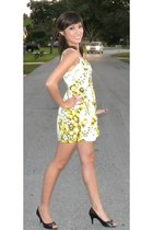 yellow Forever 21 dress - black shoes