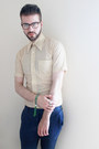 Cream-vintage-shirt-navy-topman-pants