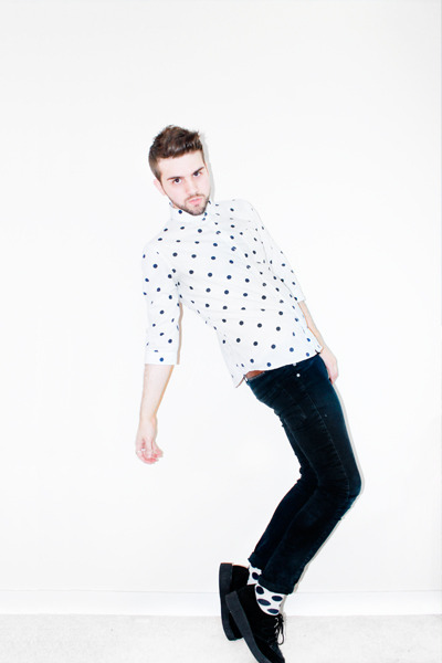 black Ebay shoes - black Cheap Monday jeans - white spinns shirt