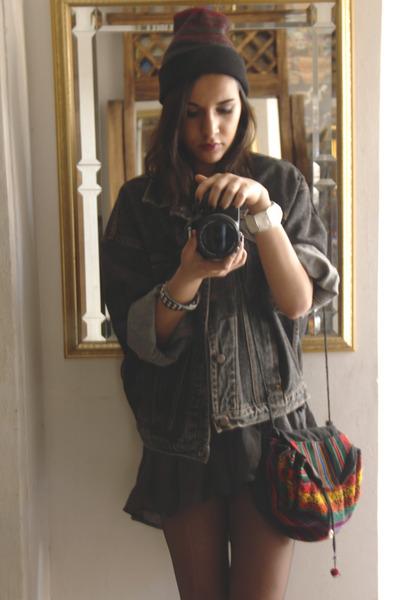 fishtail Forever 21 dress - denim Gap jacket - alpaca BOLIVIA bag