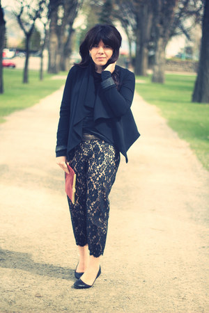 Gap blazer - vintage purse - virani pants