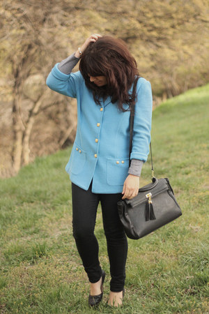 Urban Outfitters jeans - vintage blazer - Aldo purse - Aldo flats