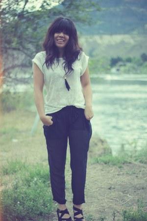 white Urban top - Costa Blanca pants - Romwecom heels