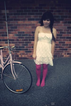 white lace dress - aa tights