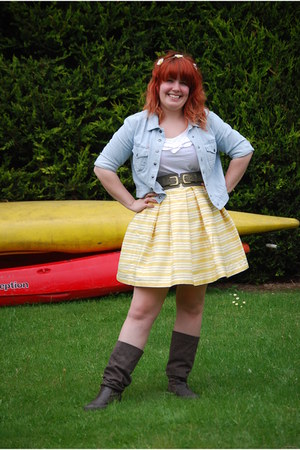 Marks and Spencers skirt - Fat Face boots - Dorothy Perkins jacket