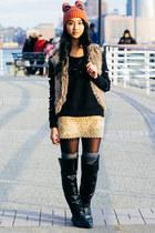 heattech Uniqlo socks - Marshalls boots - knit Adidas sweater