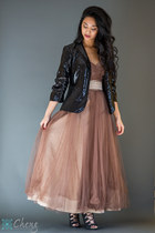 sequin calvin klein blazer - tulle unknown brand dress