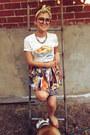 Light-yellow-head-scarf-vintage-scarf-tawny-vintage-skirt
