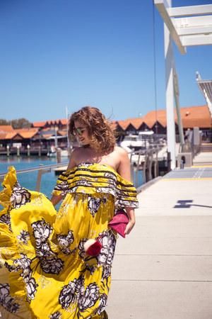 yellow Little Lace dress