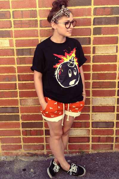 brown leopard print asos scarf - carrot orange dog print shorts