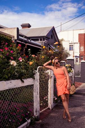orange Asha dress