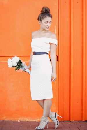 white ELLIATT dress - beige betts heels