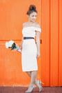 White-elliatt-dress-beige-betts-heels