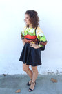 Black-leather-h-m-dress-brown-burger-print-mr-gugu-miss-go-jumper