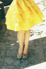 Yellow-silk-ruffle-little-gracie-skirt-camel-dress