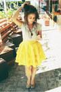 Camel-dress-yellow-silk-ruffle-little-gracie-skirt