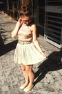 Tan-primark-blouse-lime-green-vintage-skirt-gold-vintage-belt