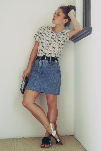 Vintage Denim Skirt - Dress Ala