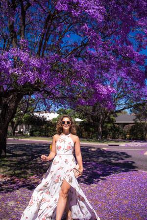 violet maxi dress Asha dress