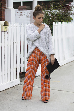 carrot orange seed pants - silver cotton on jumper
