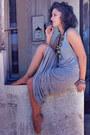 Heather-gray-supre-dress-black-crop-bra-black-lovisa-necklace